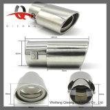 [Qisong] Bright Polished Stainless Steel SUS304 Muffler Tail Pipes for Automobile