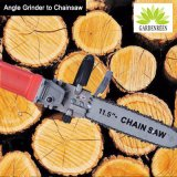 Woodworking Gardening Angel Grinder Changed Into Chainsaw