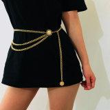 Women Fashion Belt Hip High Waist Gold Narrow Metal Chain Chunky Fringes
