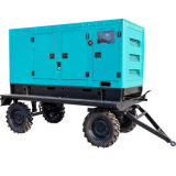 Weifang Ricardo Portable Trailer Mounted Price 8kw 10kw 12kw Diesel Generator 9kVA 10kVA with Silent Canopy