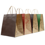 Rose Gold Paper Coffee Bag Handmade Color Logo Printing with Twist Handle