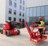Hered Brand Ha14je 14m 16m Heavy Duty Rough Terrain Outdoor Electric Hydraulic Articulate Boom Knuckle Boom Lift Man Lift Aerial Work Platforms