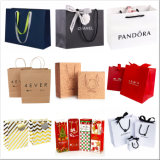 Custom Luxury Recycled Fashion Kraft Paper Packing Printing Gift Jewelry Promotional Cosmetic Packaging Shopping Bag for Clothes Shoes Christmas Wine Perfume