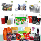Plastic Food Packaging Bag Stand up Pouch Coffee Tea Candy Pet Snack 8 Sides-Sealed Recyclable Zip-Lock Reusable Vacuum Compound Bag