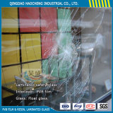 Cutting 6.38mm Clear Laminated Glass Sheets for Partition Panel