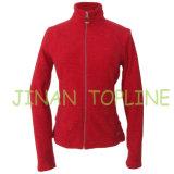 Women Elastic Spandex Micro Fleece Fabric Jacket Sports Wear