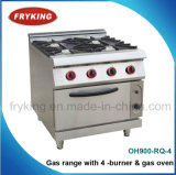 4-Burner Gas Range with Gas Oven for Kitchen