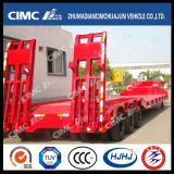 Concave-Beam 3axle Lowbed Semi Trailer with Cover on Tire
