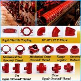 Ductile Iron Grooved Reducing Tee with Approved FM/UL