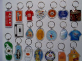 Custom Shape Cheap Promotional Gift Crystal Acrylic Keyring