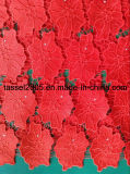 100% Polyester Chemical Lace / Guipure Lace Fabric