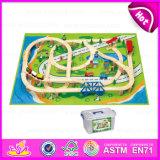 2015 Wooden Thomas Train Set, Christmas Train Set Toy, Lowest Price Train Railway Set Toy, 100 PCS Wooden Model Train Set W04D010