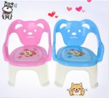 2017 New Sample Own Design Dog Shape Musical Cashion Children Plastic Chair