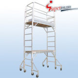 China OEM 750lb. Load Capacity 12FT. Aluminum Multi-Use Step Ladder Scaffolding Rolling Scaffold