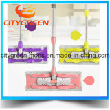 Microfiber Flat Mop with Telescopic Stainless Steel Pole