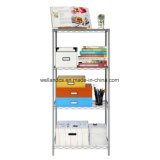 Wholesale Powder Coated 4 Shelves DIY Metal Household Living Room Storage Rack