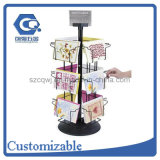 Counter Top Metal Wire Rotating 12 Pockets Greeting Card Display Rack