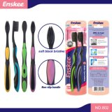 Adult Toothbrush with Black Soft Bristles 2 in 1 Economy Pack 802