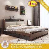 High Quality Melamine Original Wooden Color Double Bed (HX-8NR0669)