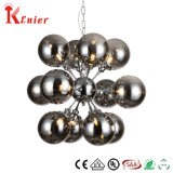 Hot Sale 12 Lights Smoky Gray Metal Sphere E14 Mirror Pendant Lamp Pendant Light