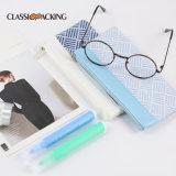 Custom Universal Jacquard Soft Eyeglasses Pouch Pen Pencil Holder Pouch Cute Zipper Glasses Bag