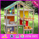 2016 Wholesale Baby Wooden Doll House Toy W06A158