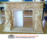 Marble Carved Stone Fireplaces Mantel (SK-1583)