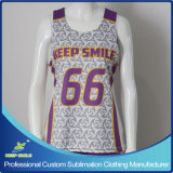 Custom Sublimation Girl's Lacrosse Raceback Reversible Shirt