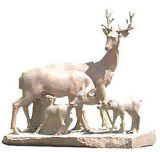 Stone Animal Marble Animal Stone Carving (SK-1148)