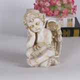 Custom Resin Antique White Angel Statue for Home Decoration
