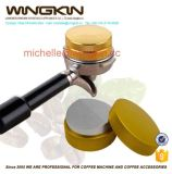 Stainless Steel and Wood Espresso Tamper 57.5mm Flat