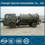 Dongfeng Army Green 4X4 Spetic Tank Vacuum Suction Sewage Truck
