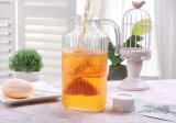 1 Litre Square Glass Juice Water Kettle with Cap