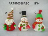 Santa and Snowman Self Sitter Christmas Decoration Gift -2asst.
