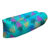 Portable Lounger Outdoor Folding Printing Air Inflatable Sofa Sleeping Bag