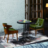 Modern Restaurant Furniture Set with Dark Green Chair and Figure Printied Table (SP-CT799)
