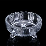 Promotional Clear Glass Fruit Dish Cheap Round Flat Fruit Glass Plate