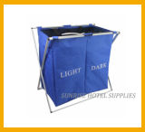 Highly Quality Metal Frame Linen Trolley with 2 Compartments