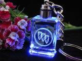 Car Marketing Promotional Gift Logo Inner Laser Engraved Crystal Keychain