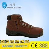 Top Safety Shoes Good Quality Genuine Leather Middle Cut