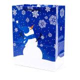 Christmas Man Printed Shopping Gift Bag Fancy Paper Handbag Wholesale