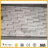 Cheap Natura Polished Wood White Marble Culture Stone Wall Tiles