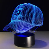 New Baseball Cap Kc Royals 3D LED Night Light 7 Colors Touch Switch Table Desk Lamp