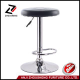 New Round Leather Seat Chromed Leg Adjustable Hydraulic Swivel Bar Stool