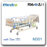 Manual Hospital Bed with 3 Funciton/Hospital Furniture Supplier