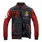 Custom Leather Sleeve Letterman Varsity Jackets, Blue and White Baseball Jackets, Warm College Jackets
