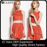 Wholesale Best Price Casual Lady Short Print Dress