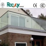 Aluminium Glass Fence with 8mm Grey Color Glass and Aluminium Frame for Balcony Balustrade Partition