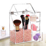 Transparent Acrylic Cosmetic Brush Bucket