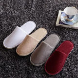 Colored Slipper Closed Toe for Hotel Usage Indoor Slipper (DPF10331)